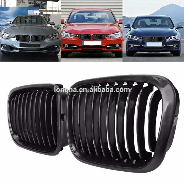 Euro Front Center Kidney Grilles For 1998 1999 2000 2001 Bmw E46 4 Door 4d Sedan 320i 323i 325i 328i 330i M3 Matte In Racing Grills From Automobiles