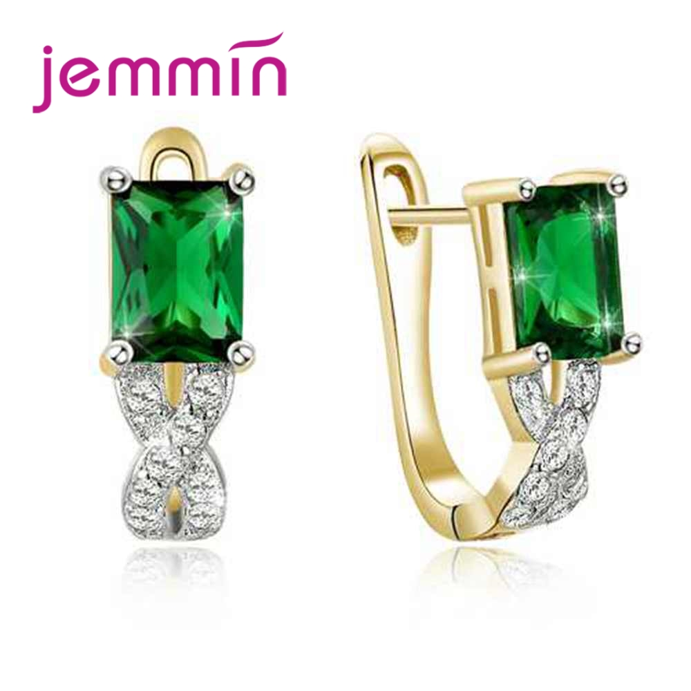 Flight Tracker Jemmin Elegant Women Female Party Wedding Jewelry 925 Sterling Silver Earrings With Fine Green Crystal High Qulity Holiday Gift Exquisite (In) Workmanship