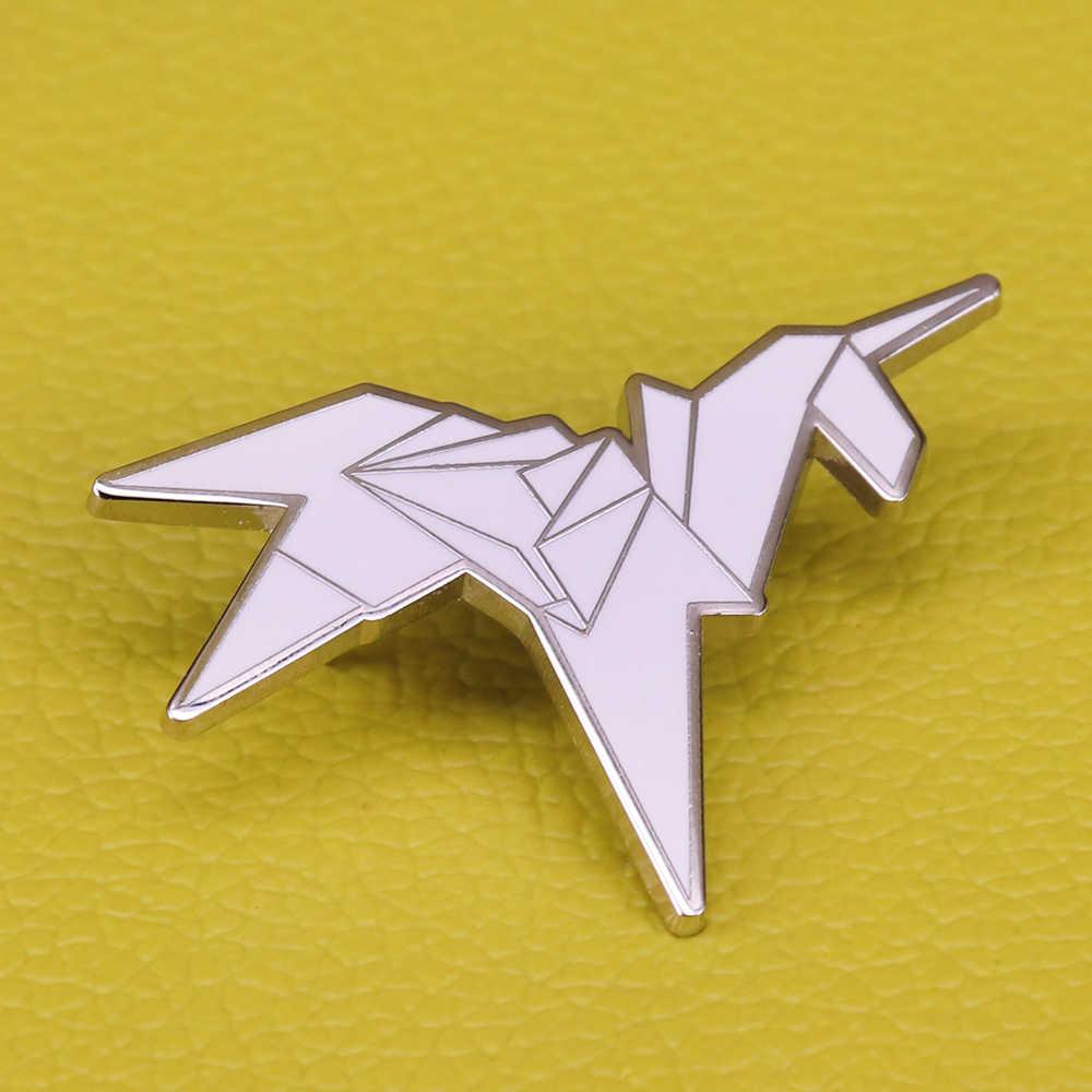 ブレードランナー折り紙ユニコーンブローチ抽象アートバッジかわいい映画ファンピンユニコーン馬のギフト