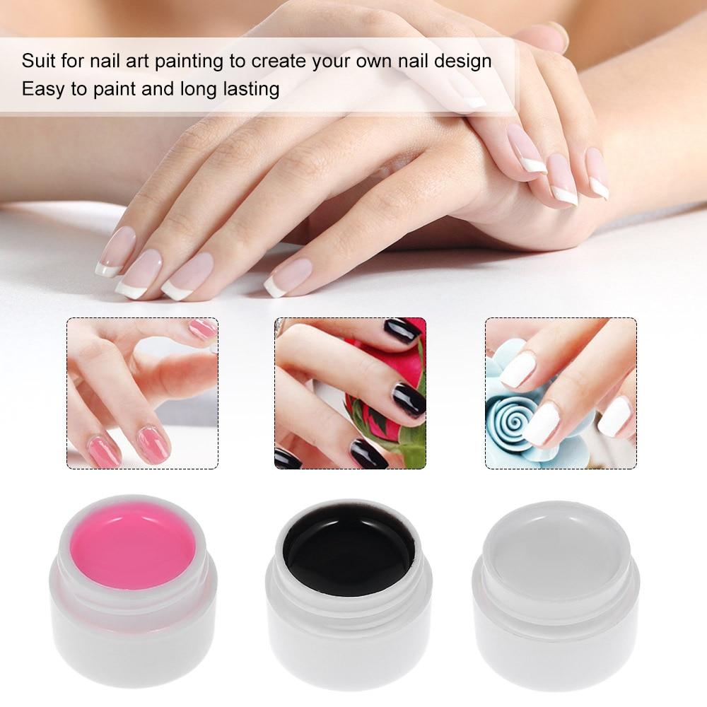 3 Colorsset Uv Gel Nail Polish Glue Diy Nail Art Tips Design