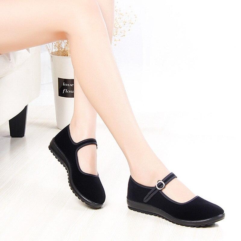De En Appartements Plates Glissement Femmes Vent Des Pour Tissu Printemps Danse Confortable Nationale Sur Chaussures Noir Nouvelles Automne RZ4Iq
