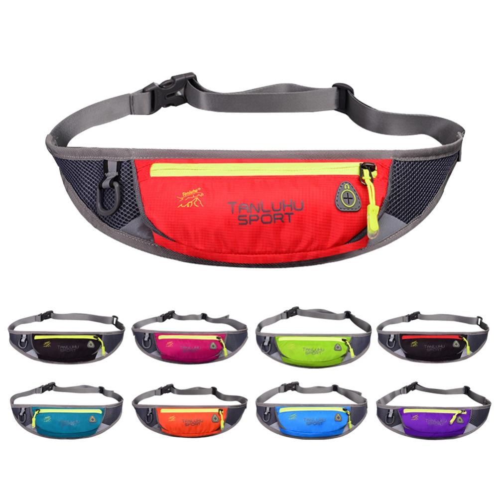 Women Men Sports Belt Bags Outdoor Waist Packs Bags Unisex Sport Fitness