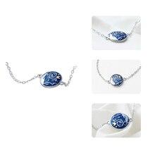 Thaya Van Gogh Enamel Cloisonne Plated Bracelet Star Moon Night Oil Painting s925 Silver Bracelet Jewelry for women gift