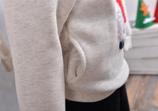 Hanorace din Fleece Tematica de Iarna - Ren pt. Familie