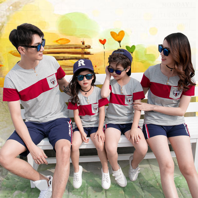Family Matching T shirt Short Pants | Father Son Mother Daughter Clothes Set