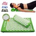 Loto Yoga Spike-Mat almohada trasera de cuerpo masajeador acupuntura estera de cojín aliviar el estrés tensión dolor w/llevar bolsa