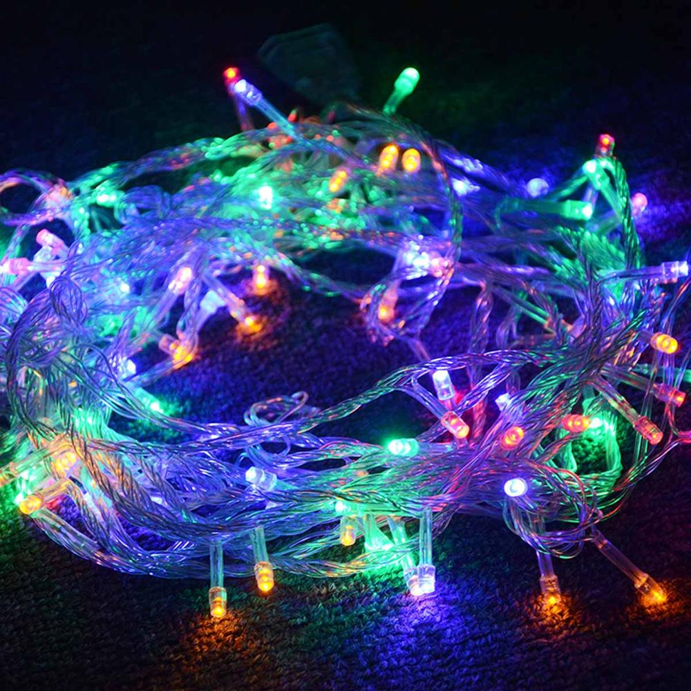 Rgb Led Christmas Lights.Us 5 99 29 Off 10m Rgb Led Christmas String Lights 100 Leds Diode Garland Fairy Light Waterproof Rgb String Xmas Tree Indoor Outdoor Decoration In