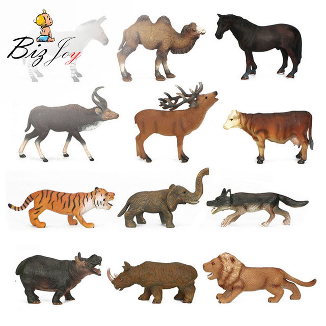 African Wild Animals Figures Action Toys High Quality Zoo Animal