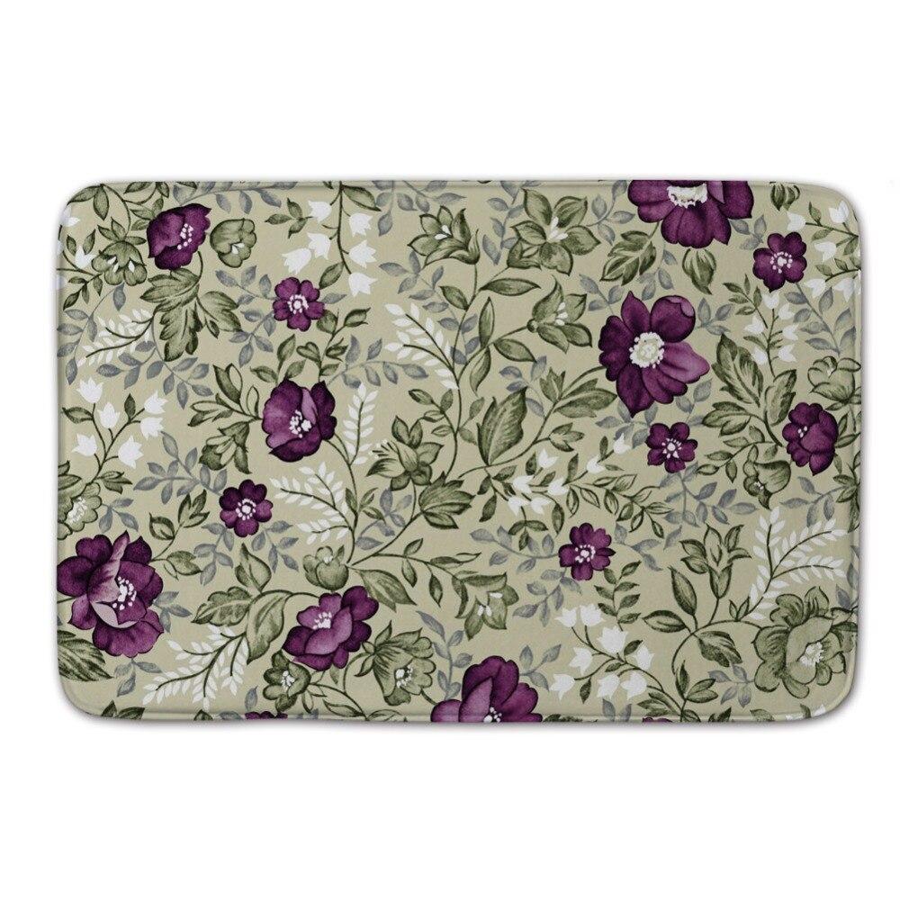 Floor mats decorative - Purple Color Flower Rugs And Carpets Floor Mats Living Room Foam Doormat For Children Chic Front