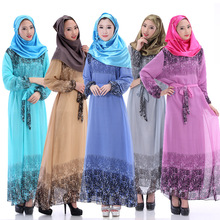 Caftan Turkish Abaya Women Dress Pictures Limited Adult Polyester Formal None Islamic Clothing For The New 2016 Chiffon Abaya