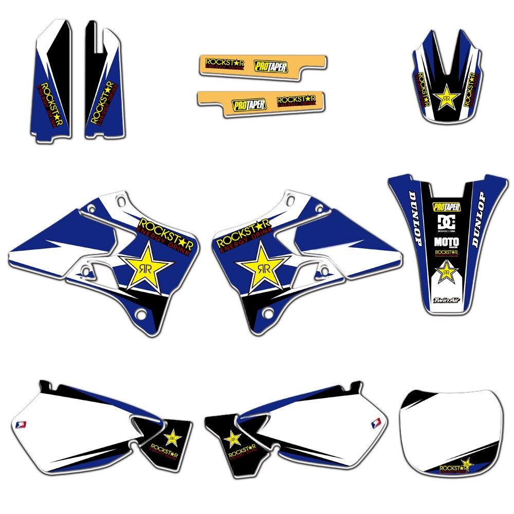 Graphismes d'équipe Delcas Autocollant Kit Déco Pour Yamaha YZ125 YZ250 1996 1997 1998 1999 2000 2001 YZ 125 250