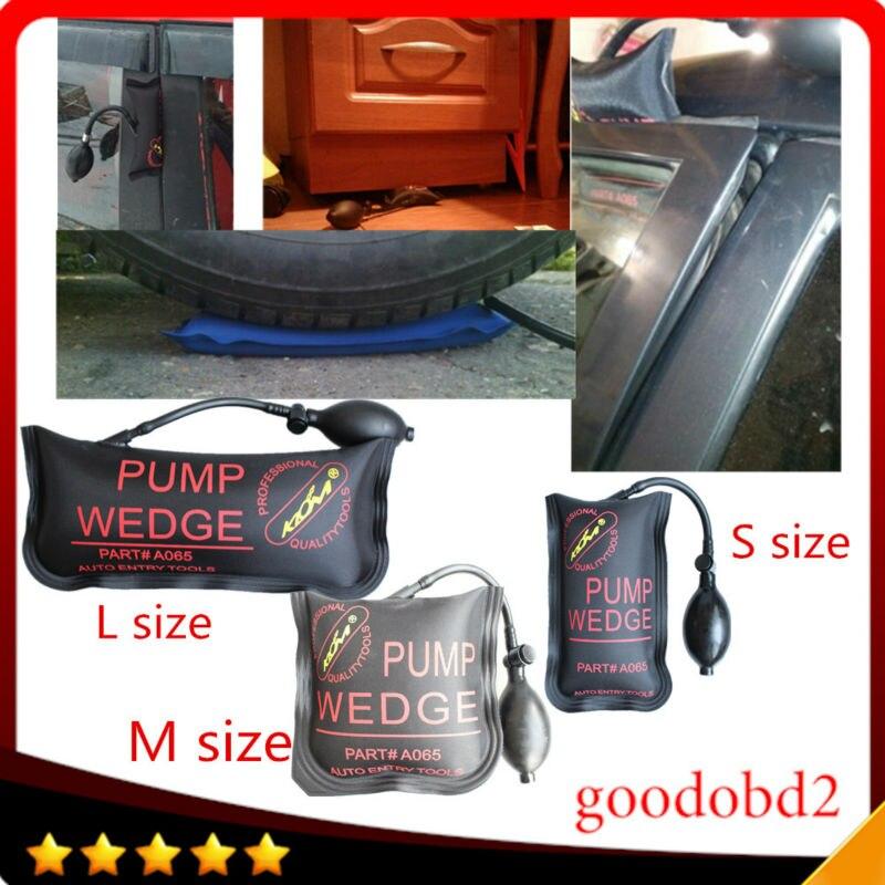 Prix pour 100% KLOM Petit/Moyen/Grand taille air wedge pompe de cale Gonflable ouvrent la Porte de voiture 3 pcs/lot Airbag Serrure Pick Set Voiture Ouverte porte