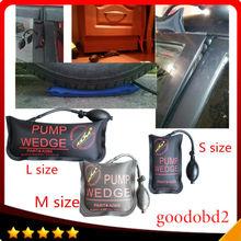 Best Price 100% KLOM Small/ Middle/Big size air wedge pump wedge Inflatable Unlock Door car 3pcs/lot Airbag Lock Pick Set Open Car Door