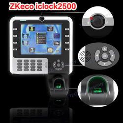 ZK iClock 2500 биометрический терминал для рабочего времени-WinCE платформы большой Ёмкость отпечатков пальцев 8 дюймов Сенсорный экран