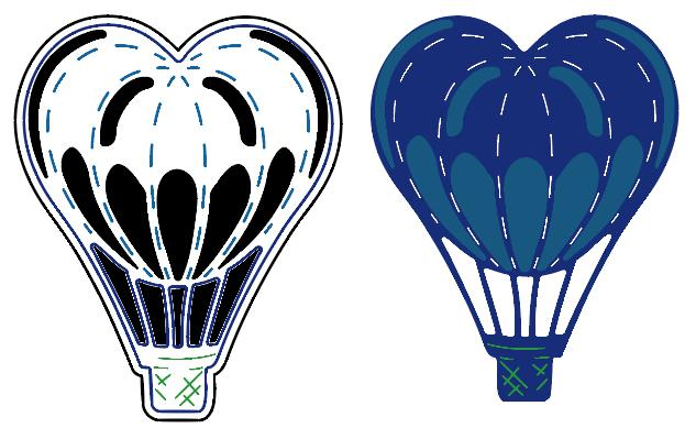 Bifujian love Hot Air Balloon Matel Cutting Die Crafts Embossing Scrapbooking Die Carbon Cut Paper Card Stencil For Albums Decor