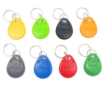 100pcs RFID 125KHz Tag 8 Color TK4100 EM4100 Proximity Keyfobs Tags RFID Card for Access Control Time Attendance 1
