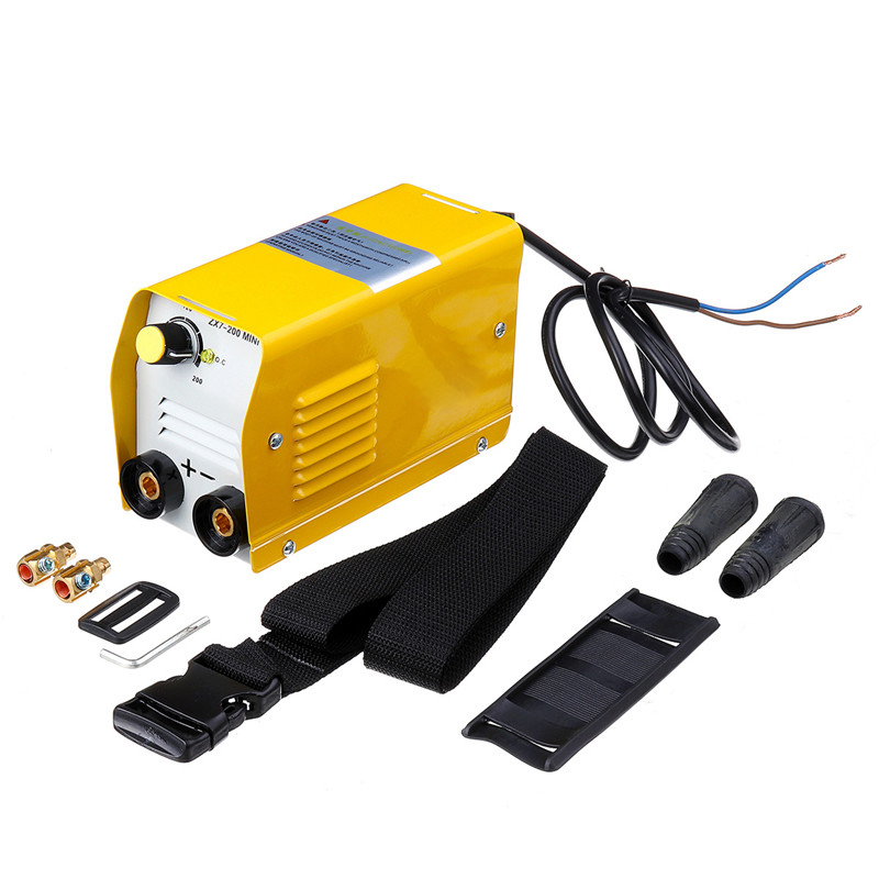 ZX7-200 220V Mini 20A-200A spawarka elektryczna IGBT DC spawania falownika łukowego-spawaczy żółty