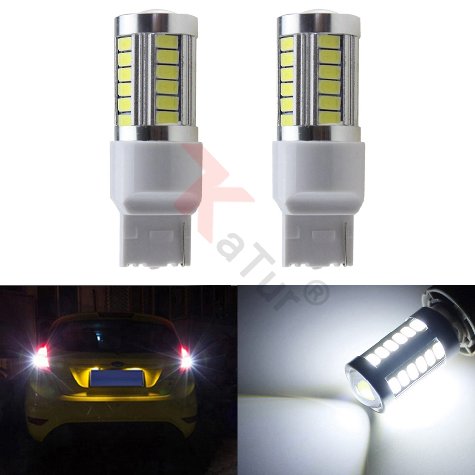 2pcs 7440 7440NA 7441 992 5630 33-SMD Azul 900 Lumens LED Turn Tail - Faróis do carro - Foto 1