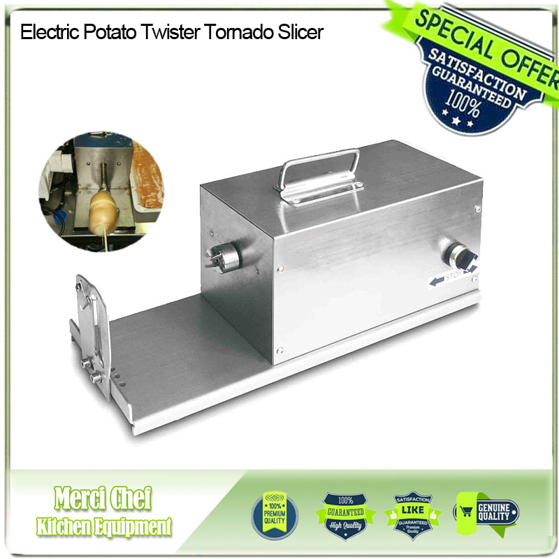 Great Electric Potato Twister Tornado Slicer Machine Automatic Spiral Cutter Vegetable slicer twister machine 110/220v electric sausage hot dog spiral twister tornado potato cutter curly fries cutter zf