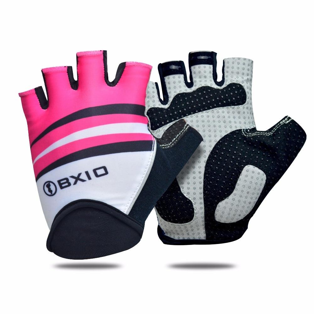 2018 Hot Selling BXIO Women Cycling <font><b>Gloves</b></font> Gel Pad Palm Summer MTB Bicycle <font><b>Gloves</b></font> Pro Team Half Finger Bike <font><b>Gloves</b></font> BX-ST162