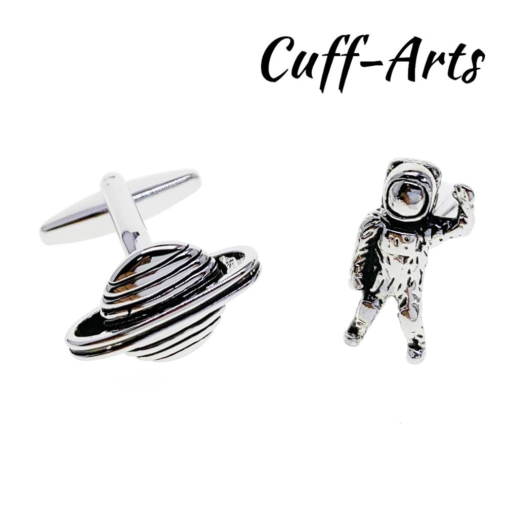 Cufflinks For Men Astronaut Planet Space Alien UFO Cufflinks Gemelos Gemelli Spinki By Cuffarts C10414