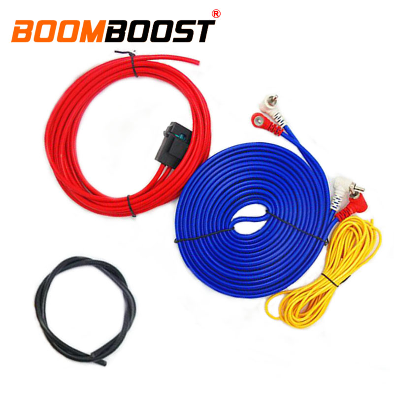 subwoofer speaker wiring amplifier professional 60w car audio wire installation wires cables kit. Black Bedroom Furniture Sets. Home Design Ideas