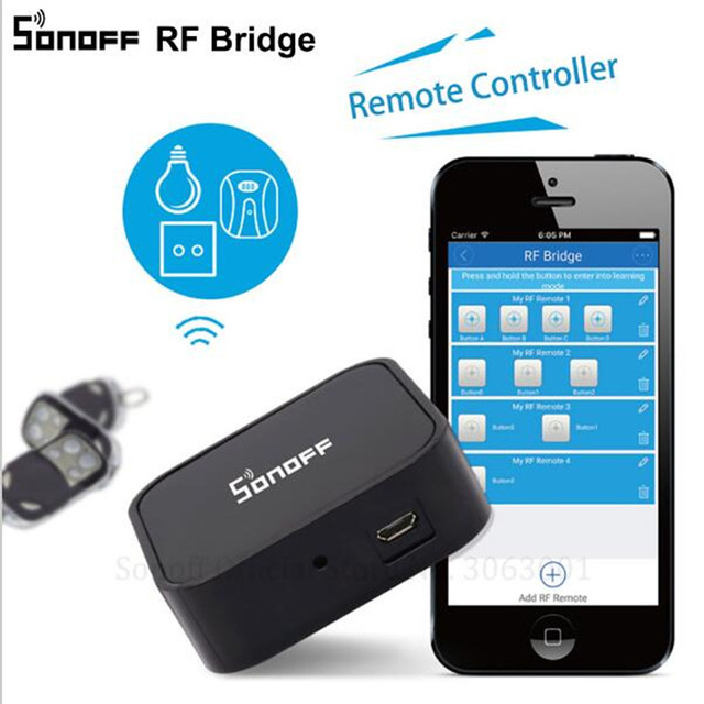 Sonoff RF Bridge Smart Home Automation Module Wifi Switch Diy Controller 433MHZ RF Remote Convert to WiFi Control