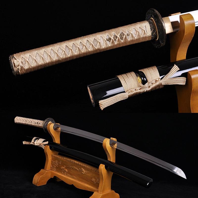 Espada completa de espiga Samurai japonés Katana Espada Acero al - Decoración del hogar