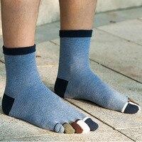 5 pares hombres cinco dedos Calcetines con dedos Calcetines porción negro color blanco Hombre algodón Calcetines alta calidad