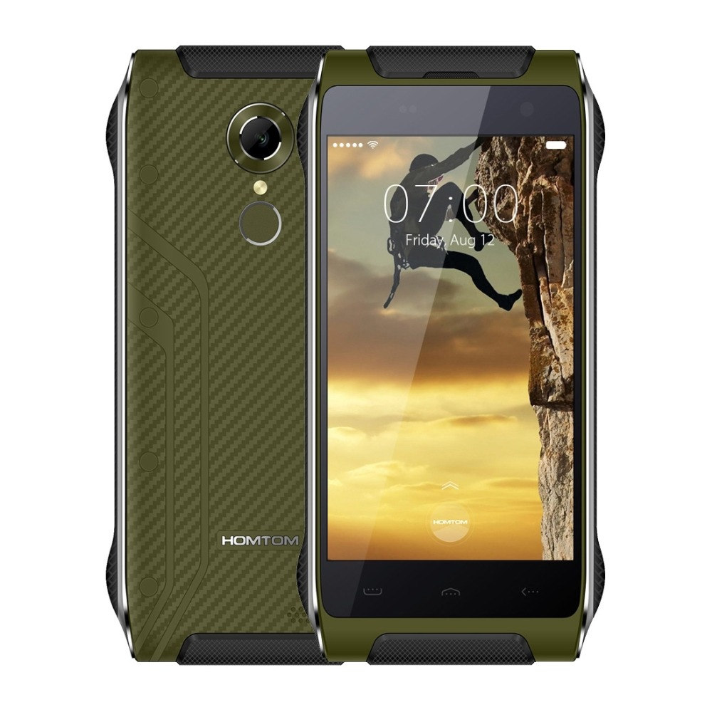 4G Homtom HT20 IP68 Waterproof Shockproof Phone Fingerprint 3500mah 4 7 MTK6737 Quad Core Android 6