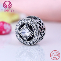 100 Authentic 925 Sterling Silver Jewelry Luxury Shining Charms Fit Pandora Bracelet Bangle DIY Original Jewelry