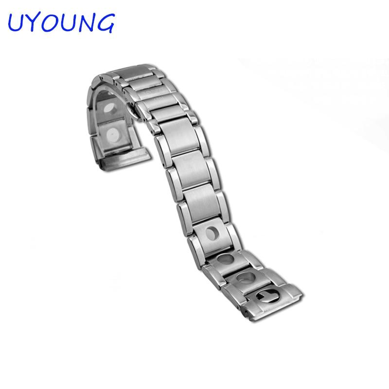 New Unisex 20 mm Argjend Stainless Steel Watch Band, Rrip rripi i - Aksesorë për orë - Foto 4