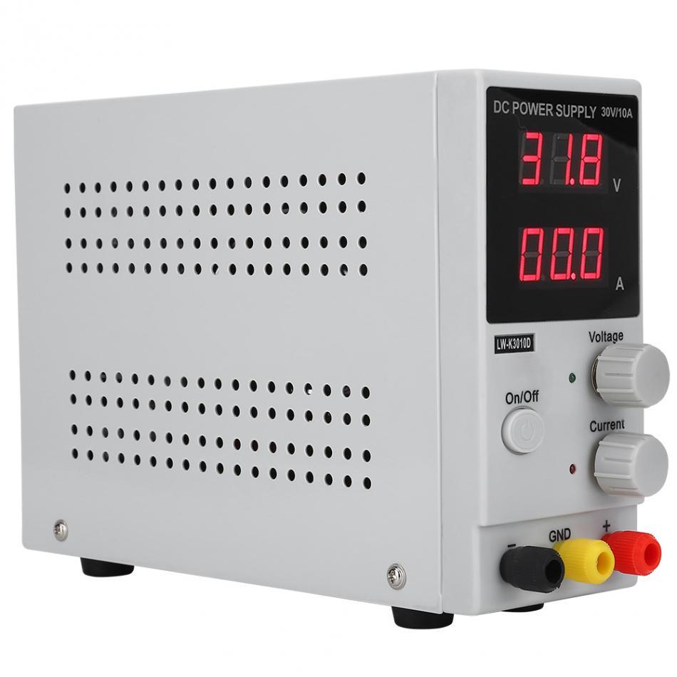 Regulador de voltaje 0-30 V 0-10A pantalla Digital ajustable fuente de alimentación de CC fuente de alimentación de conmutación regulador de voltaje