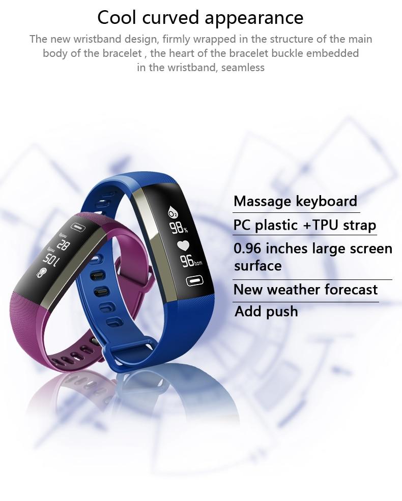 M2 Pro R5MAX Smart Fitness Bracelet Watch 50word Information display blood pressure heart rate monitor Blood oxygen PK Mi Band 3 (3)