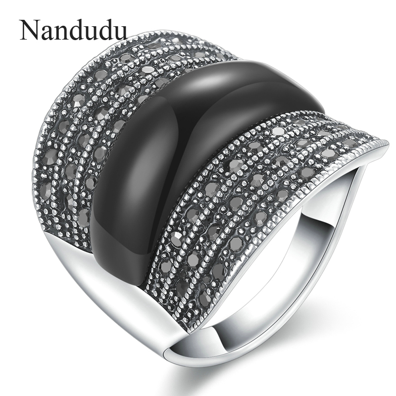 Nandudu new arrival marcasite austrian crystal rings Vintage style fashion rings