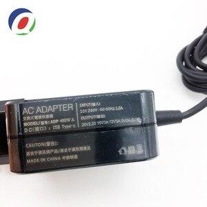 Image 2 - QINERN ab 20V 2.25A için 45W güç adaptörü şarj Asus Zenbook 3 Tablet tipi C Laptop adaptörü güç malzemeleri