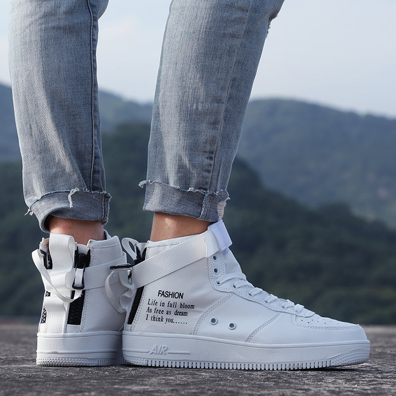 High top parallel Canvas shoes Force One sneakers men sport shoes women running shoes for men Unisex trainers zapatos de mujer 5