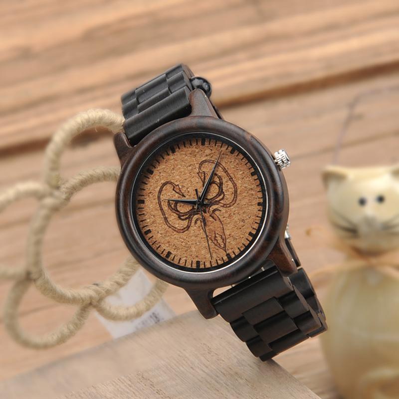2017 New Arrival Fashion BOBO BIRD Watch Men Black Wood Wristwatches Wooden Strap Quartz Watch Gifts relogio feminino (19)