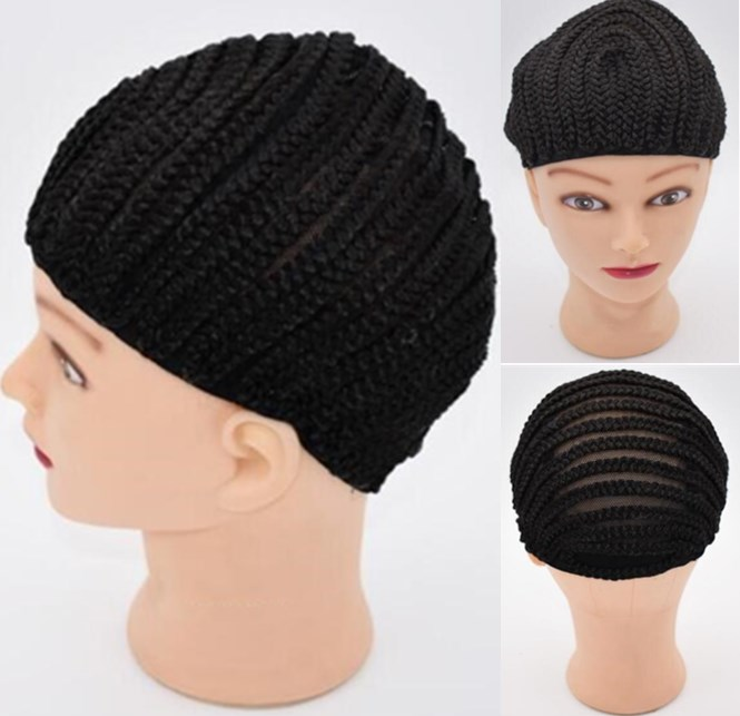 Large Crochet Wig Cap Easy Sew In Cornrow Wig Cap For Making Wigs Stretching 52-66Cm Super Ealstic Cornrow Cap Black ...