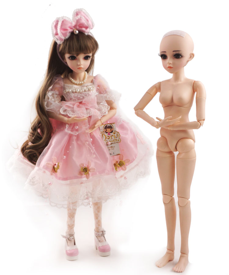 Fashion 1/3 BJD Doll Naked SD Doll 56cm 22inch DIY 18 Jointed dolls DIY Nude Body Doll Toy For Girls Birthday Gift