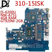 KEFU NM A751 motherboard for Lenovo 310 15ISK 510 15ISK laptop motherboard For I5 6200U 4GB RAM GT920M 2GB Test OK
