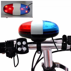 Bicycle electronic horn bike front light police warning siren cycling lights bell 6 led loud bell.jpg 250x250