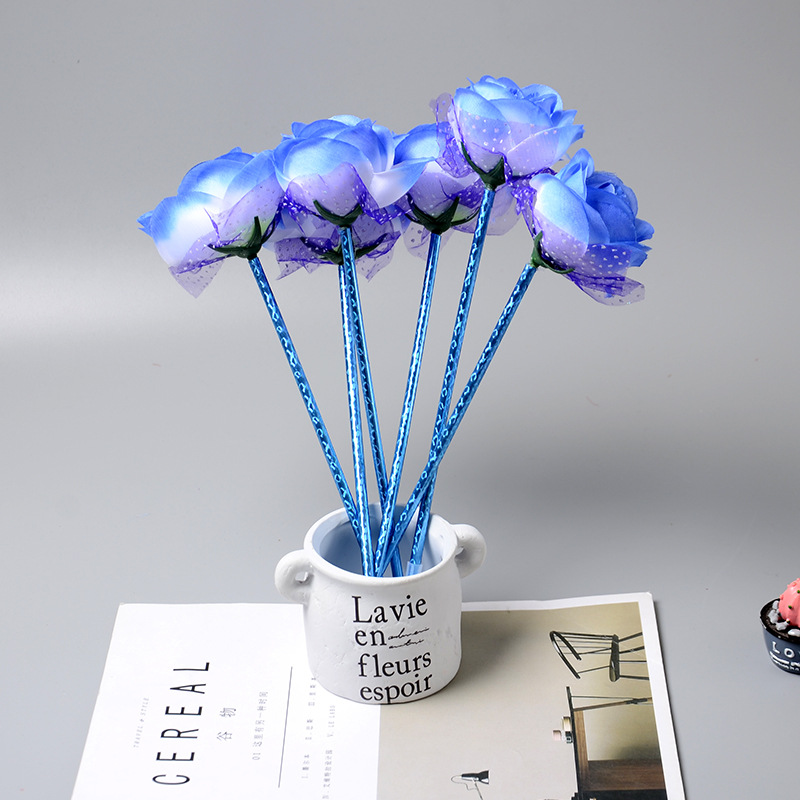 E15 Lovely Roses Creative Ballpoint Pen Stationery Gifts For Children Prize Pupils