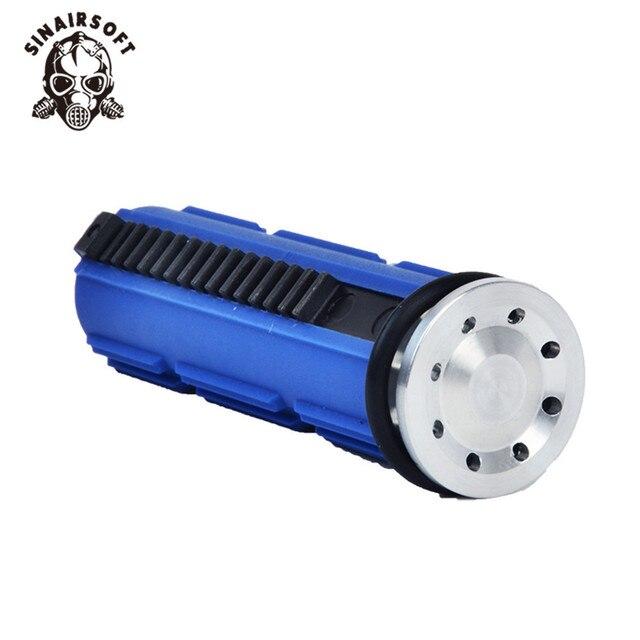 Sinairsoft shs cnc aço completo 15 dentes pistão com cabeça de pistão alumínio m4 ak série conjunto para airsoft aeg caixa de velocidades v2 v3 v6