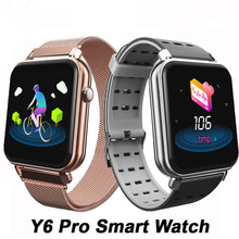 Y6 Pro Smart Watch 3D UI Color Screen Sync Heart Rate Monitor Blood Pressure Fitness Tracker Bracelet For Android Ios