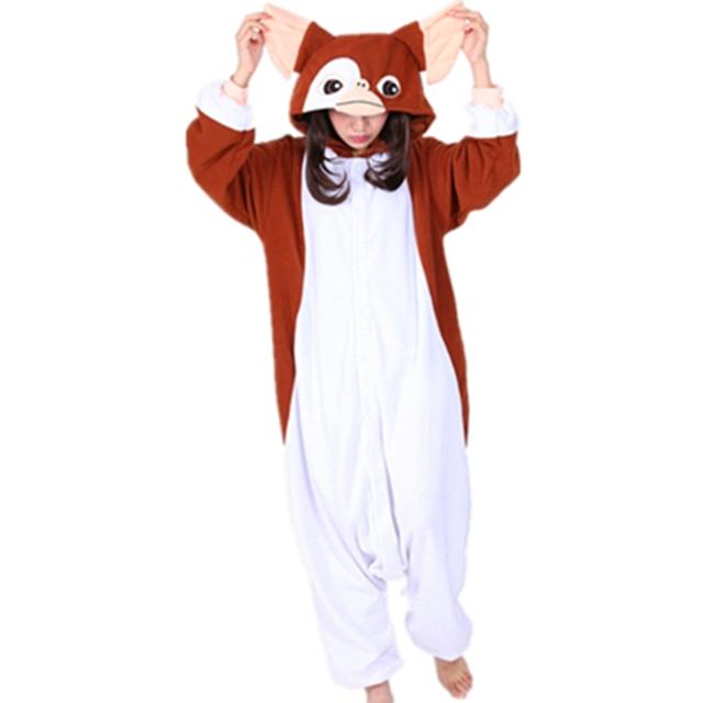 2017 new kawaii brown gremlins gizmo cosplay costume onesies halloween carnival party christmas adult onesie pyjamas