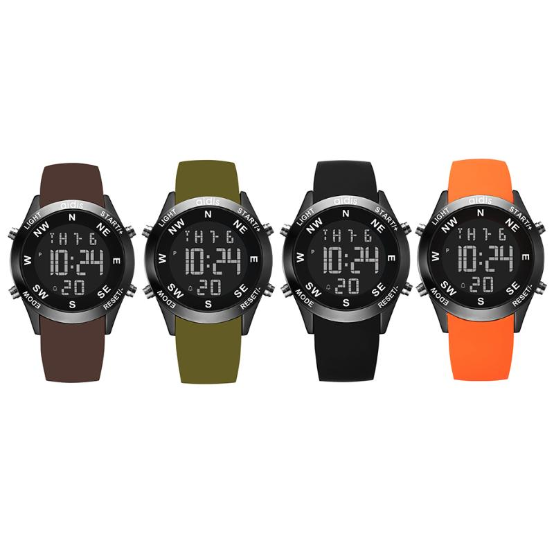 Multi Function Electronic Wrist Watch 7 Colors Back Light LED Watch Men Waterproof Sport Watch reloj hombre система акустическая yamaha ns bp300