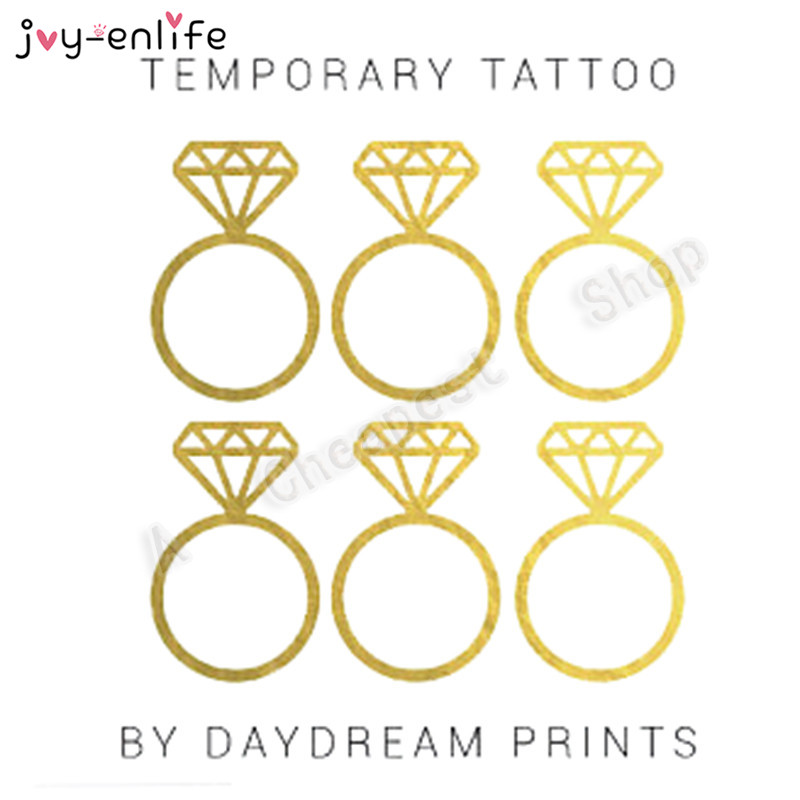 Make A Statement With This One Of Kind The Diamond Ring Style Bachelorette Party Temporary Tattoo Choose Number You Need And Bridal Shower