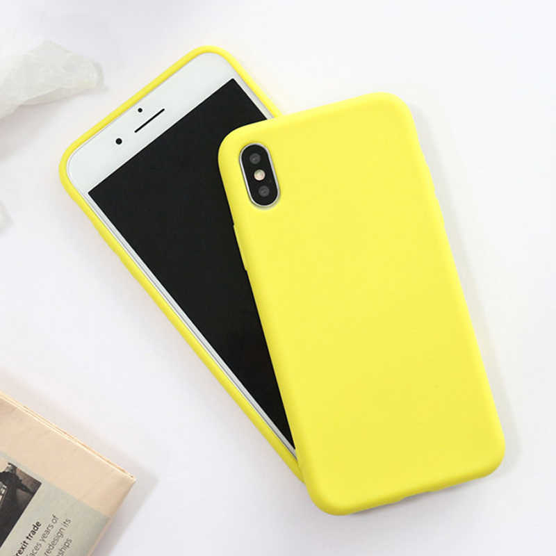 2019 Hot Sale for Iphone 7 Plus 6 6s 8 X Xr Fashion Cute for Lemon Soft Cover Couple Candy Color Phone Case for iPhone Xs Max