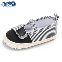Newborn canvas Shoes Infants Boy Striped soft bottom Non-slip First Walkers Kids Footwear Toddler Baby girl Shoes
